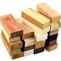 Бруски из экзотических пород древесины
