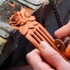 Изготовление гребня из плашки падука от Ирины Проузиной