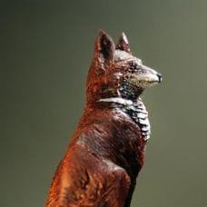 Изготовление резной заколки с фигуркой лисы от Семена Белугина