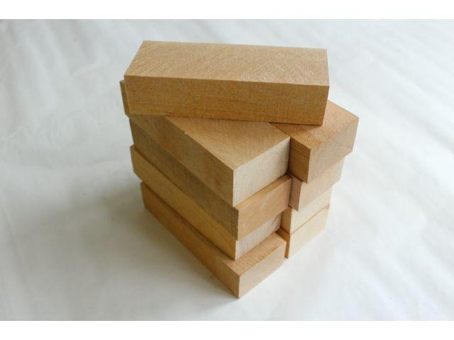 Береза, набор из 9шт заготовок для рукоятей ножей