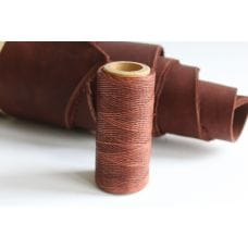Нить вощеная красно-коричневая толщ. 1 мм 100м.