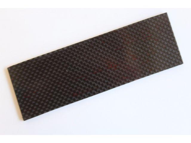 Гибрид: Карбон с красной G-10, 6мм. Накладка 38х125 мм