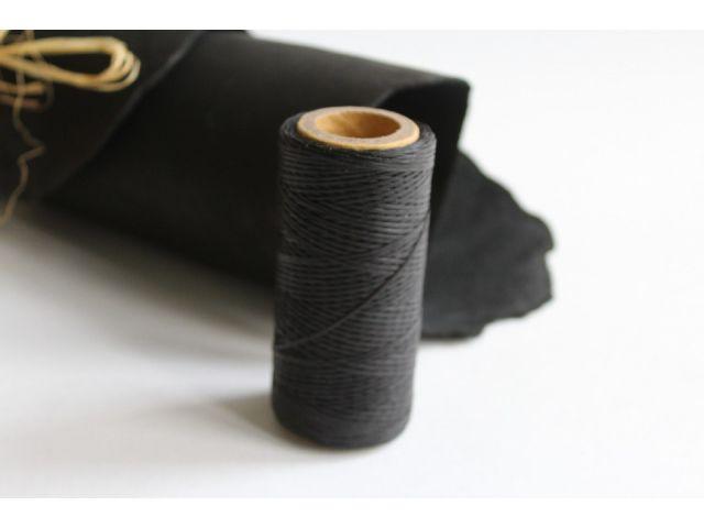 Нить вощеная толщ. 0,8 мм черная 100м