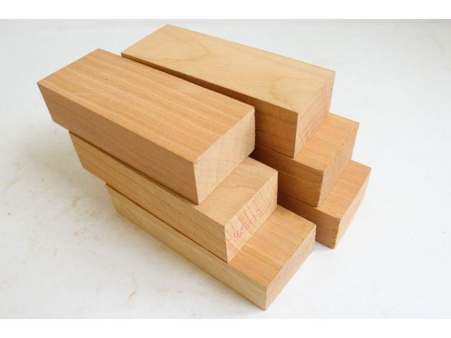 Черешня, набор из 6шт заготовок для рукоятей ножей
