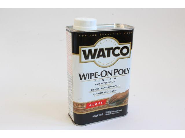 Watco Wipe-On Poly, полироль для дерева, глянцевая, 0,945 литра