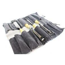 Набор стамесок ПЕТРОГРАДЪ с прямой РК 4 шт. в сумке-скрутке