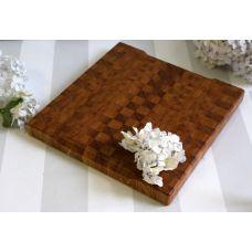 Доска торцевая, дуб, шахматный рисунок, размер 27,5х26х2,7см