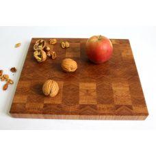 Доска торцевая, дуб, шахматный рисунок, размер 30х25х3см