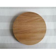 Дуб, обрезанный щит для токарных работ, диаметр 300мм, толщина 30мм