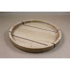 Круглый поднос, Ясень, Орех, диаметр 31 см, высота 3 см