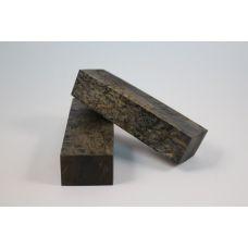 Карельская береза стаб., черная, 170х45х30 заготовка под рукоять ножа