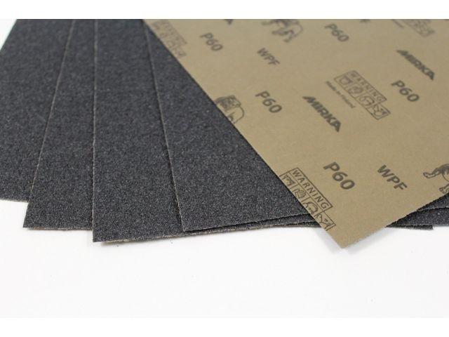 Шлифовальная бумага (наждачная) Mirka WPF, лист 230х280мм, зерно Р60