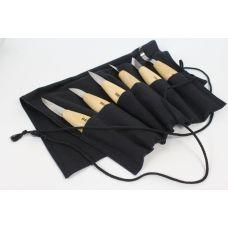 Набор резчицкий ПЕТРОГРАДЪ №4, 6 ножей в сумке-скрутке