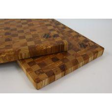 "Доска торцевая ""Карагач, ясень"", шахматный рисунок, размер 25х30х3см"