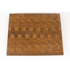 Доска торцевая, дуб, шахматный рисунок, размер 30х24,5х2,7см