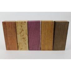 Набор заготовок для рукоятей ножей 'Пять видов дерева' №1 новый!