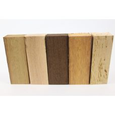 Набор заготовок для рукоятей ножей 'Пять видов дерева' №8 новый!