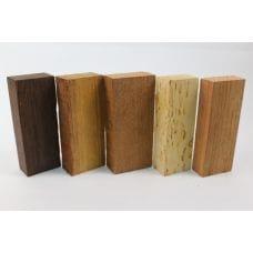 Набор заготовок для рукоятей ножей 'Пять видов дерева' №7 новый!