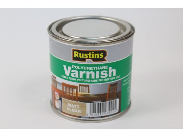 Rustins, Poly Varnish Clear, лак полиуретановый матовый, 250мл
