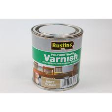 Rustins, Poly Varnish Clear, лак полиуретановый матовый, 0,5 литра