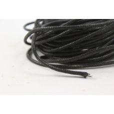 Шнур вощеный черный толщ. 2 мм