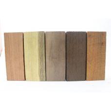 Набор заготовок для рукоятей ножей 'Пять видов дерева' №10