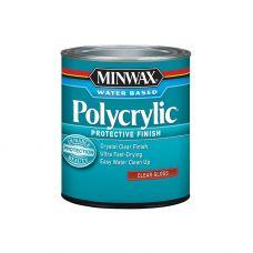Защитное финишное покрытие на водной основе Minwax POLYCRYLIC Глянцевый 3.785 л