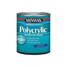 Защитное финишное покрытие на водной основе Minwax POLYCRYLIC Матовый 237 мл