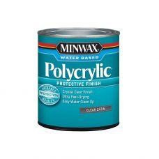 Защитное финишное покрытие на водной основе Minwax POLYCRYLIC Полуматовый 3.785 мл