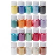 Набор из 20-и цветов перламутрового порошка для эпоксидной смолы