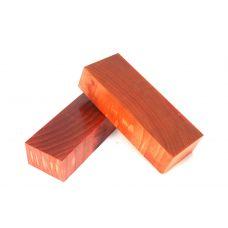 Ясень стаб., торцевой красный,  заготовки для рукоятей ножей