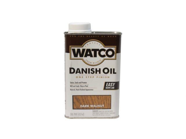Watco Danish Oil, датское масло, темный орех, 0,472 литра