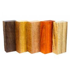 Набор заготовок для рукоятей ножей 'Пять видов дерева' №7