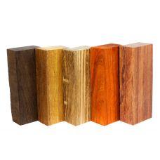 Набор заготовок для рукоятей ножей 'Пять видов дерева' №3