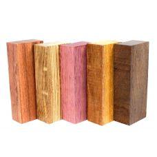 Набор заготовок для рукоятей ножей 'Пять видов дерева' №1