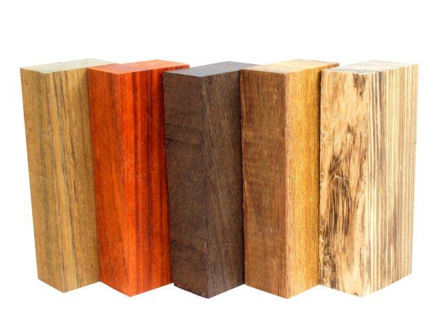 Набор заготовок для рукоятей ножей 'Пять видов дерева' №8
