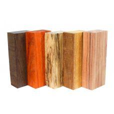 Набор заготовок для рукоятей ножей 'Пять видов дерева' №9