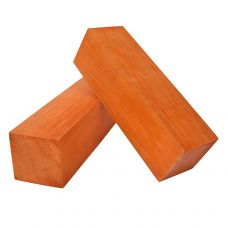 Оранжевый граб, 130х40х40мм, токарная заготовка