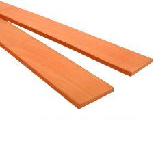 Оранжевый граб 530х40х5-6мм, тонкая заготовка для творчества