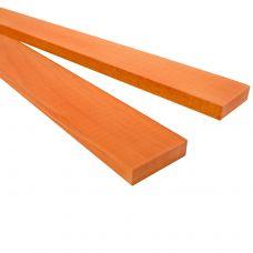Оранжевый граб 530х40х10мм, заготовка для творчества