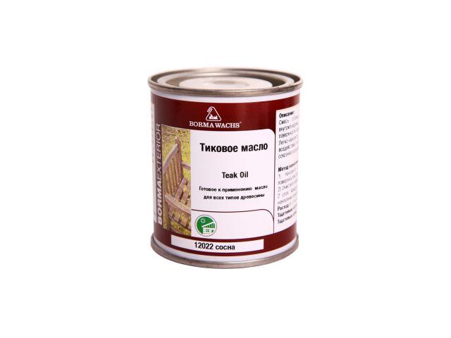 Borma Wachs, Масло тиковое (тара 125 мл), цв. М12022 (сосна)