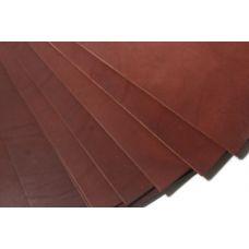 Кожа натуральная (Краст Турино) цвет табачный, 3,0-3,2мм