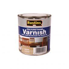 Rustins, Poly Varnish Clear, лак полиуретановый полуматовый, 250 мл