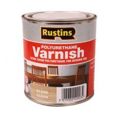 Rustins, Poly Varnish Clear, лак полиуретановый глянцевый, 0,5л