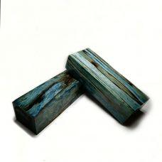 Береза шпальт, стаб. синий, заготовка под рукоять ножа
