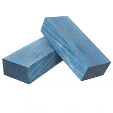 Клен стабилизированный синий, заготовки для рукоятей ножей
