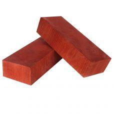 Бук стаб. торцевой, красный, заготовки для рукоятей ножей