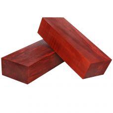 Груша стабилизированная красная, заготовка под рукоять ножа