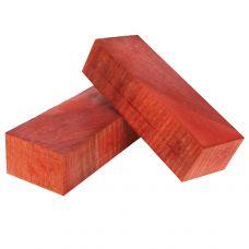 Карагач стаб., торцевой, красный, заготовки для рукоятей ножей