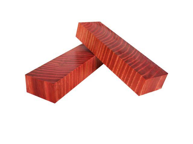 Карагач стаб., торцевой, красный, 175 мм, заготовки для рукоятей ножей
